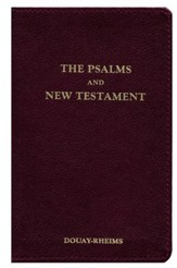 Douay-Rheims New Testament With Psalms, Genuine Leather, Burgundy