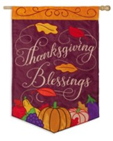 Thanksgiving Blessings Flag, Large