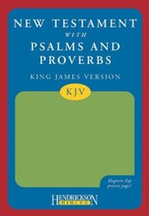KJV New Testament With Psalms And Proverbs Green, Magnetic Flap