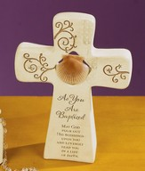 As You Are Baptized Cross Figurine