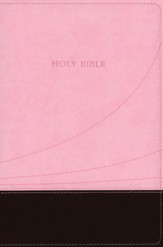 KJV Large Print Thinline Reference bible flexisoft chocolate/pink - Slightly Imperfect