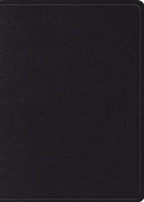 ESV MacArthur Study Bible--genuine top grain leather, black