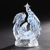 LED Holy Family With Angel Crystal Figurine