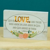 God is love LED Tabletop Plaque