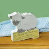 Child of God Shaped Tabletop Plaque