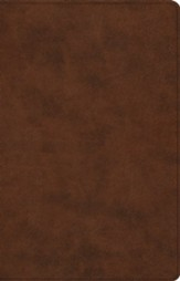 ESV Large-Print Thinline Reference Bible--soft leather-look, brown