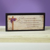 He is Risen Mini Plaque