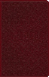 ESV Premium Gift Bible--soft leather-look, ruby with vine design