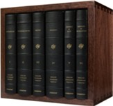 ESV Reader's Bible, Six-Volume Set--Black Cowhide over  Board with Verse Numbers and Solid Walnut Slipcase