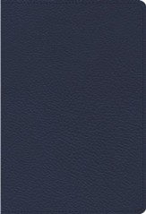ESV Heirloom Single-Column Personal-Size Bible--goatskin leather, blue