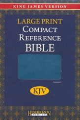 KJV Large Print Compact Reference Bible, Flexisoft leather, Blue