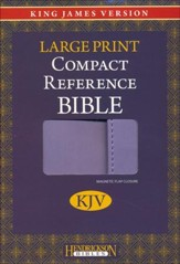 KJV Large Print Compact Reference Bible with Flap Flexisoft Lilac - Slightly Imperfect