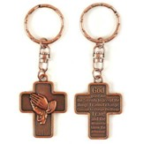 Cross with Serenity Prayer Keyring