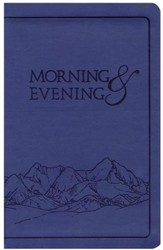Morning and Evening, NIV Edition, soft leather look,    - Blue