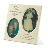 50th Wedding Anniversary Photo Frame, 3x5, 4x6