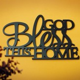 God Bless This Home Plaque