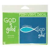 God Is Good, Ichthus Decal Sticker