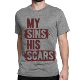 Grace, My Sins, His Scars Shirt, Gray, Small