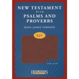 KJV New Testament with Psalms and Proverbs, imitation leather, espresso