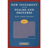 KJV New Testament with Psalms and Proverbs, imitation leather, lilac