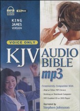 KJV Complete Bible, Voice-Only Edition on MP3--3 CDs