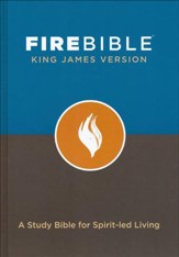 Fire Bible KJV version, hardcover