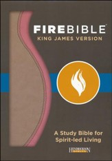 Fire Bible KJV version, imitation leather rose/Khaki