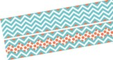 Chevron Beautiful Turquoise Double-Sided Border