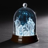 LED Holy Family Crystal Glitterdome