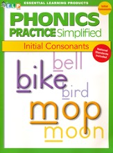 Phonics Practice Simplified Book B: Initial Consonants