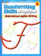 Handwriting Skills Simplified Level F: Maintaining   Manuscript Writing