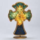 Holy Family Stained Glass LED Cross