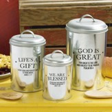 God's Country Canisters, Set of 3
