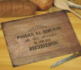 Servir Uno al Otro, Tabla para Cortar  (Serve One Another, Cutting Board)