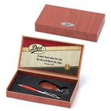 Dad, A Man's Heart Plans His Way Pen and Keying Gift set