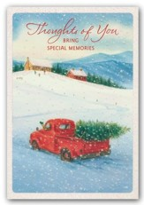 Thoughts of You, Snow Scene, Christmas Cards, Box of 18