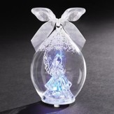 LED Angel In Dome Crystal Ornament
