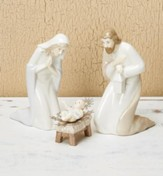 Porcelain Holy Family Nativity Set 3 Pieces