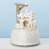 Baby Jesus & Animals Musical Snowflake Figurine