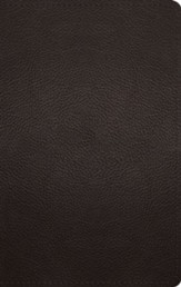 ESV Large-Print Personal-Size  Bible--buffalo leather, deep brown