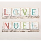 Noel & Love Two-Sided Block Plaque