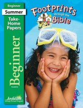 Footprints through the Bible Beginner (ages 4 & 5) Take-Home Papers