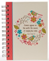 Flowers Appear on Earth, Small Spiral Bound Journal