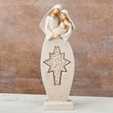 Holy Family With Spinning Star Figurine