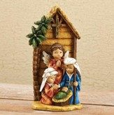 Nativity Kids Pageant With Stable Figurine