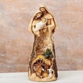Holy Family & Stable Root Figurine