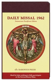 Daily Missal 1962, Genuine Leather, Burgundy