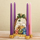 Nativity Pageant Advent Candle Holder