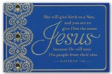 Jesus: He Will Save, Christmas Cards, Box of 18