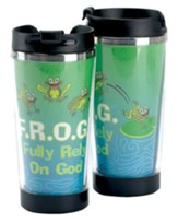 F.R.O.G., Fully Rely On God Travel Mug